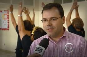 Dr. Bruno Nogueira entrevistado pela Tv Vanguarda na Casa do Idoso – SJC