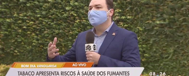 Dr. Bruno Nogueira fala à tv sobre tabagismo no contexto da Covid-19